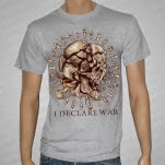 I Declare War Skull Teeth Heather Gray T-Shirt
