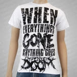Impending Doom Anything Goes White T-Shirt