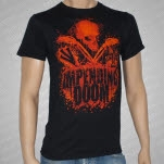 Impending Doom Impending Doom Bloody Skull Black T-Shirt