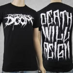 Impending Doom Death Will Reign Logo Black T-Shirt