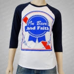 In Fear And Faith Faith Baseball T-Shirt