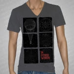 In Other Words Blocks V Neck Asphalt T-Shirt