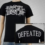 In Reference to a Sinking Ship Defeated Logo Black T-Shirt