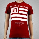 inVogue Records Flag Cranberry T-Shirt