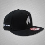 inVogue Records Flame Black Military Cap