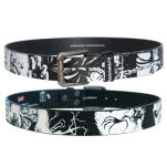 Iron Maiden Black Cracked Leather Belt