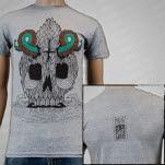 Isles  Glaciers Tenta Skulls Heather Grey T-Shirt