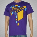 Its Like Love 3D Blocks Purple T-Shirt