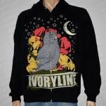 Ivoryline Owl Black Hoodie Zip