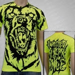 Iwrestledabearonce Bear All Over Print Neon Yellow T-Shirt
