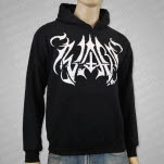 Iwrestledabearonce Black Metal Logo Black Pullover