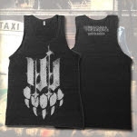 Iwrestledabearonce Bear Paw Tri Blend Black Tank Top