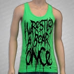 Iwrestledabearonce Carnage Neon Green Tank Top