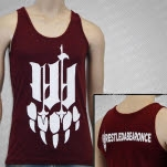 Iwrestledabearonce Claw Tri Cranberry Tank Top
