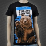 Iwrestledabearonce Hello Black T-Shirt