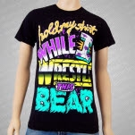 Iwrestledabearonce Hold My Shirt Black T-Shirt