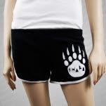 Iwrestledabearonce HT Logo white Black Track Shorts