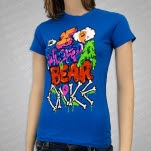 Iwrestledabearonce Crazy Name Turq blue Girls T-Shirt