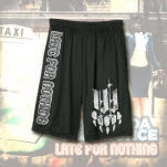 Iwrestledabearonce Late For Nothing Black Mesh Shorts