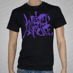 Iwrestledabearonce Purple Logo on Black T-Shirt