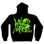 Iwrestledabearonce Old School Logo Black Hoodie Zip