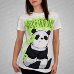 Iwrestledabearonce Panda White Girls T-Shirt