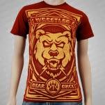 Iwrestledabearonce Uproarrr Maroon T-Shirt