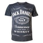 Jack Daniels Reversible Printed Black T-Shirt