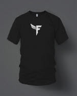 JD Fortune inchFinch Logo Centered Small Black T-Shirt