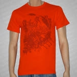 Jet Lag Gemini Collage Orange T-Shirt