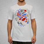 JiggzArt Brave White T-Shirt