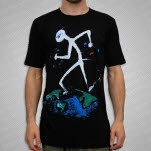 JiggzArt World Runner Black T-Shirt