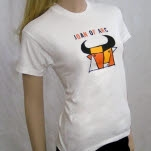 Joan of Arc Bull White T-Shirt