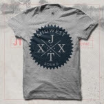 JT Woodruff Midwest Heather Grey T-Shirt
