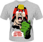 Judge Dredd Emo Kids T-Shirt