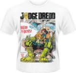 Judge Dredd Dredd Is Boss Distressed T-Shirt
