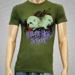 Karate High School Demons Army Green T-Shirt