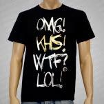 Karate High School OMG GoldFoil on Black T-Shirt