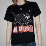 Kid Dynamite Black Cat Black T-Shirt