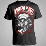 Koffin Kats Zombie Head Black T-Shirt