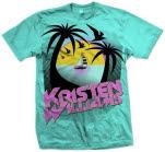 Kristen Williams Beach Aqua T-Shirt