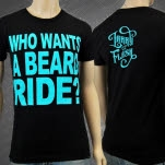 Larry And His Flask Beard Ride Black T-Shirt