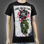 Larry And His Flask Death Hand Black T-Shirt