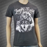Larry And His Flask Wolves Charcoal T-Shirt