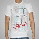 Lets Get It Lip Stick White T-Shirt