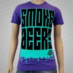 Lets Make Mistakes Smoke Beers Triblend Tri Orchid T-Shirt