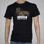 Life On Repeat Camera Black T-Shirt
