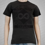 Life On Repeat Infinity Plus Charcoal T-Shirt