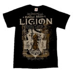 Ligion Keyhole Black T-Shirt