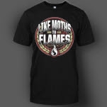 Like Moths To Flames Arch Black T-Shirt